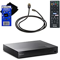 Sony BDPS3500 Blu-ray Player with Wi-Fi + Remote Control + Xtech High-Speed HDMI Cable with Ethernet + HeroFiber Ultra Gentle Cleaning Cloth