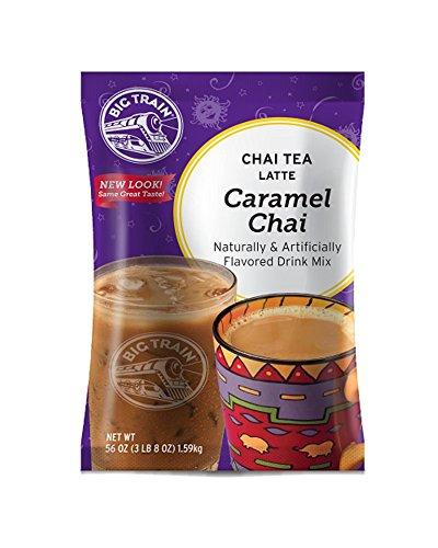Caramel Milk Tea - Big Train Chai Tea Latte, Caramel, 3.5 Pound, Powdered Instant Chai Tea Latte Mix, Spiced Black Tea with Milk, For Home, Café, Coffee Shop, Restaurant Use