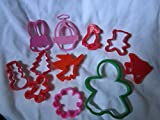 11 Miscellaneous Shape Cookie Cutters, 11 Mixed Cookie Cutters