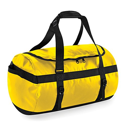 Bolsa de viaje BagBase de Tarp 50 litros de lona 53x33x33cm Negro Yellow