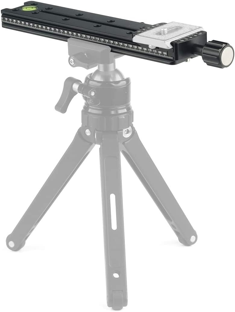 Color : Black Black MEETBM ZIMO,NNR200 Multi-Purpose 200mm Nodal Rail Slide Plate QR Clamp Macro Panoramic Bracket
