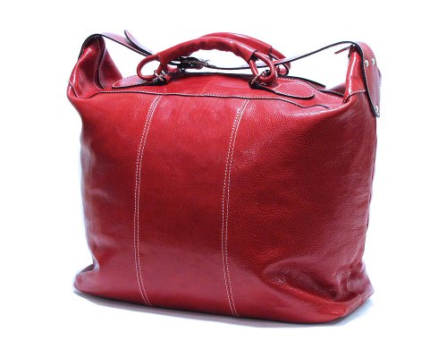 Floto Luggage Piana Tote Leather Bag, Tuscan Red, Large by Floto