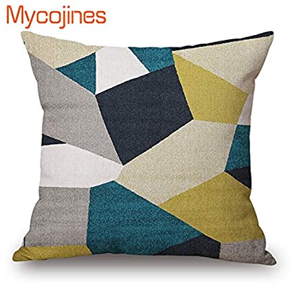 Amazon.com: 1 Pcs Modern Abstract Art Geometric Cushion ...
