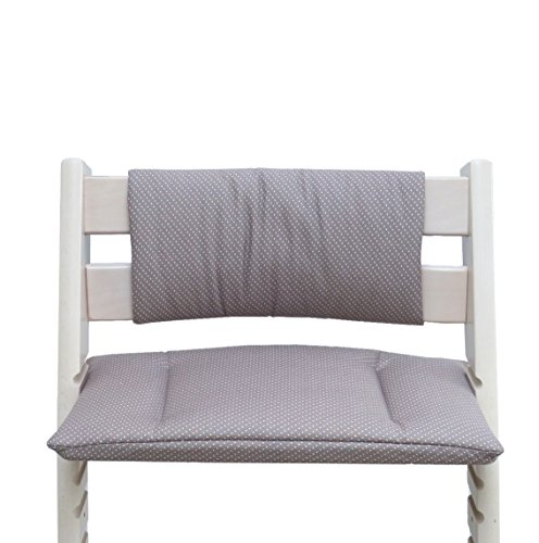 Blausberg Baby - Cushion Set Junior for Tripp Trapp High Chair of Stokke - Taupe Dot