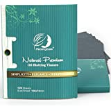 Premium Facial Oil Blotting Paper, 200 Counts - Natural Bamboo Charcoal Face Blotting Sheets, Easy Take Out Design - Top Handy Oil Absorbing Tissues - Oily Skin Care or Make Up Must Have!