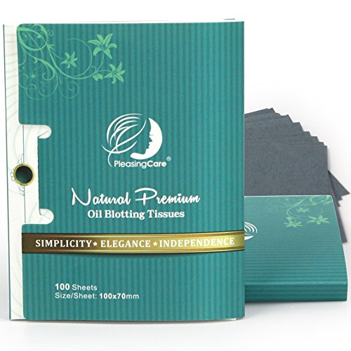 Premium Facial Oil Blotting Paper, 200 Counts - Natural Bamboo Charcoal Face Blotting Sheets, Easy Take Out Design - Top Handy Oil Absorbing Tissues - Oily Skin Care or Make Up Must (Oil Absorbing Powder)