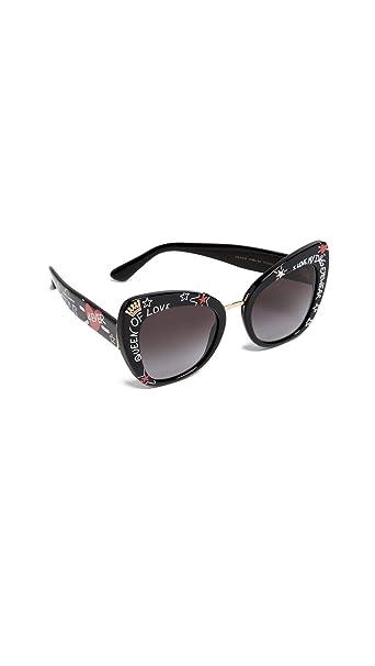 d4150f1a41 Dolce & Gabbana 0DG4319 Gafas de sol, Black, 51 para Mujer: Amazon ...