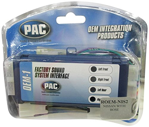 PAC ROEM-NIS2 System Interface Kit to Replace Factory Radio and Integrate Factory Amplifiers for 1995-2002 Nissan Vehicles with Bose Audio Systems (Factory Radio Interface)