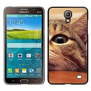 EJOY---Cubierta de la caja de protección para la piel dura ** Samsung Galaxy Mega 2 ** --Mestizo Americano de Pelo Corto Manx Cat Eye