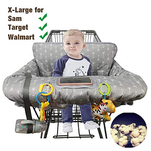 Discover Bargain Shopping Cart Cover for Baby Cotton High Chair Cover Full Safety Harness, Machine W...