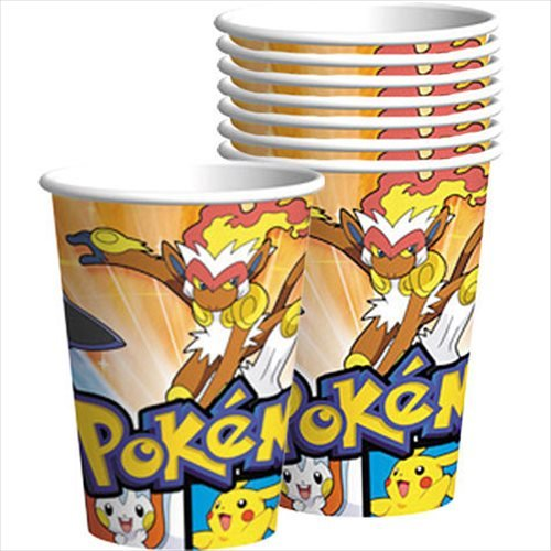 Pokemon 'Diamond and Pearl' Paper Cups (Pokemon 9 Ounce Cups)