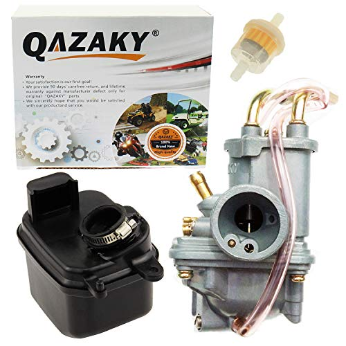 QAZAKY Carburetor + Air Filter Box Assembly Compatible for Yamaha Y-Zinger PW50 PW 50 Peewee Gtmotor G50T Loncin PY50 LX50PY Jianshe PY50 Yzinger
