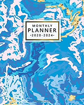 2020-2024 Monthly Planner: Five Year Monthly Agenda & 5 Year ...