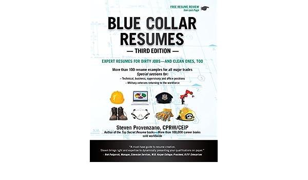 Amazon Blue Collar Resumes Third Edition EBook Steven