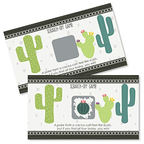 Big Dot of Happiness Prickly Cactus Party - Fiesta Party Game Scratch Off Cards - 22 -