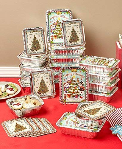 Christmas Candy Container - 24 Holiday Goodie Food Containers, Christmas