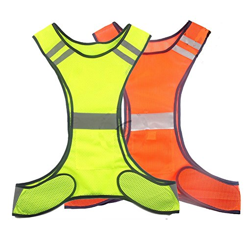 RUIAN Reflective Safety Vest Running Cycling Dog Walking Safety Sports Gear High Visibility for Adults Children with Pocket (Mesh Running Vest)