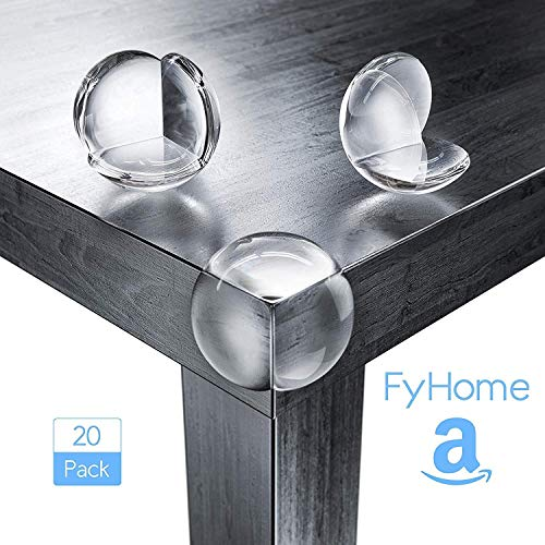 Furniture Clear Edge & Corner Protector for Child Safety Adhesive High Resistant Gel Corner Guards Best Baby Proofing (20 Pack) Table Corner Covers Baby Safety
