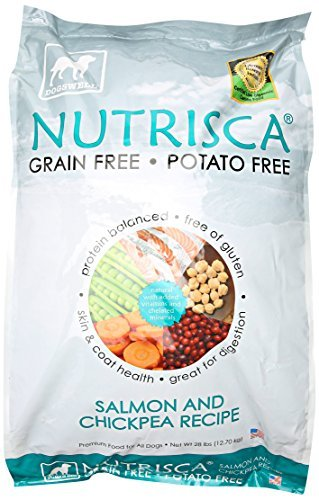 DOGSWELL 842442 Nutrisca Dogs Salmon/Chicken Pea Food for Pets, 28-Pound by Dogswell