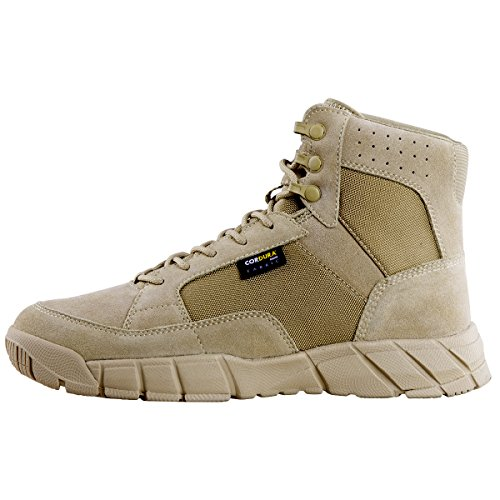 FREE SOLDIER Men's Tactical Boots 6'' inch Lightweight Military Boots for Hiking Work Boots Breathable Desert Boots (Tan, 7) by FREE SOLDIER (Image #8)
