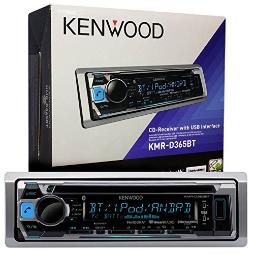 Kenwood KMR-D365BT MP3 USB AUX Marine Boat Yacht Stereo CD Player Receiver Bundle Combo with Dual Electronics SG3 White Water Resistant Flip Up Housing Cover