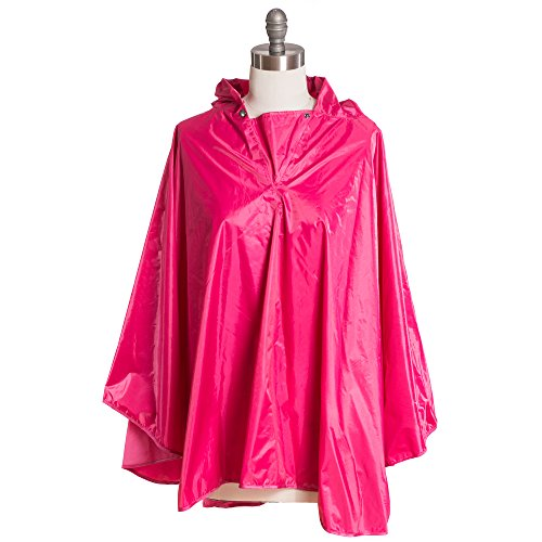 free-spirit-weather-proof-unisex-hooded-rain-poncho-jacket-coat-cape-pink