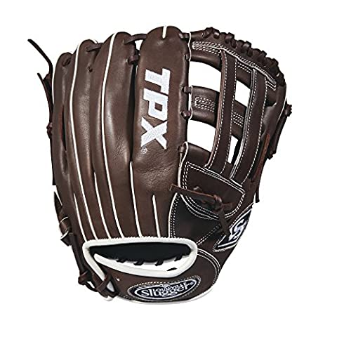 Louisville Slugger 2018 Tpx Infield Baseball Glove - Right Hand Throw Dark Brown/White, 11.75