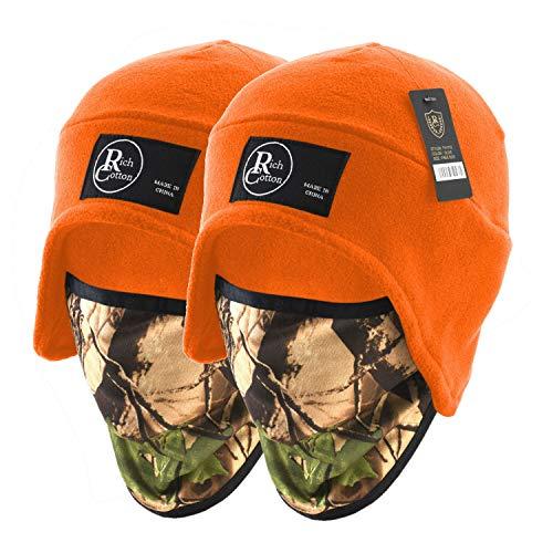 Beanie Fleece Mask (Mix - Orange Pack 2)