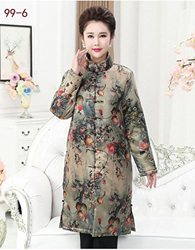 92% Mulberry Silk (water gauze technics) Womens Tang Suits Cotton-padded Jackets Coats Womens Jackets Business Jackets Full Dress Formal Dress Winter Dress (99-5) (99-6) by Womens Tang Suit (Image #1)