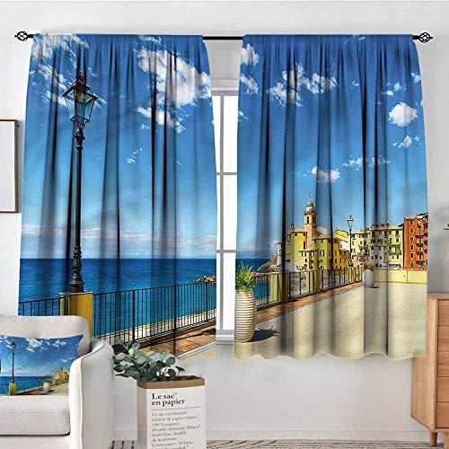 Italian,Nursery/Baby Care Curtains Camogli Old Buildings Shore 104