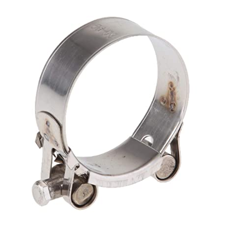 Akozon Tubo di scarico universale per moto in acciaio INOX