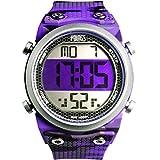 Youngs Camping & Hiking Equipment Women Outdoor Sports Waterproof Watch (Purple)