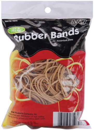 (Rubber Bands .25lb, Tan - Assorted Sizes)