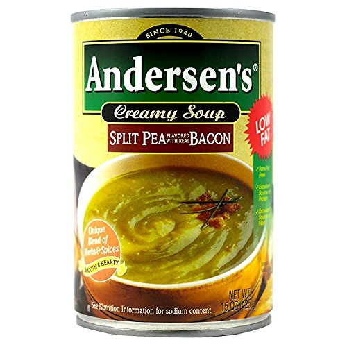 Andersen Split Pea with Bacon Soup - 15 oz (12 pack)
