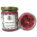 Deadly Attraction 6 oz Soy Herbal Spell Candle for Seduction, Passion, Lust & Attraction Hoodoo Wiccan Pagan Conjure