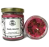 Deadly Attraction 8 oz Soy Herbal Spell Candle Seduction, Passion, Lust & Attraction Hoodoo Wiccan Pagan Conjure