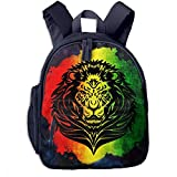 Rasta Lion Watercolor Distressed Children's Lightweight Canvas Travel Backpacks School Book Bag