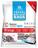 Travel Roll Up Bags - Pack of 10 (Large & Medium) | Roll-Up