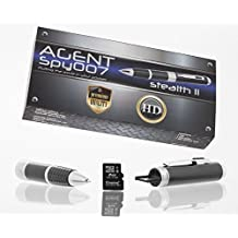 Agent Spy 007 Stealth Spy Pen Series 2 HD Hidden Video Camera-Best Premium Digital & Audio Quality with True HD-Free 8GB SD card included-Real 1280x720p-Easy use-Great for Secret Covert Capture or Web Cam –works with PC Mac-LIFETIME WARRANTY