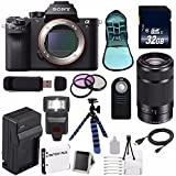 Sony Alpha a7R II Mirrorless Digital Camera (International Model no Warranty) + Sony E 55-210mm f/4.5-6.3 OSS E-Mount Lens (Black) + 49mm 3 Piece Filter Kit 6AVE Bundle 107