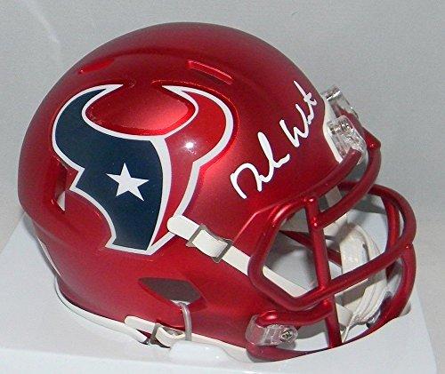2c9143243 Deshaun Watson Autographed Signed Houston Texans Rare Blaze Mini Helmet  GTSM Watson Player Hologram