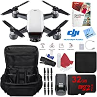 DJI Spark Alpine White Quadcopter Drone 32GB Photo Creator Bundle