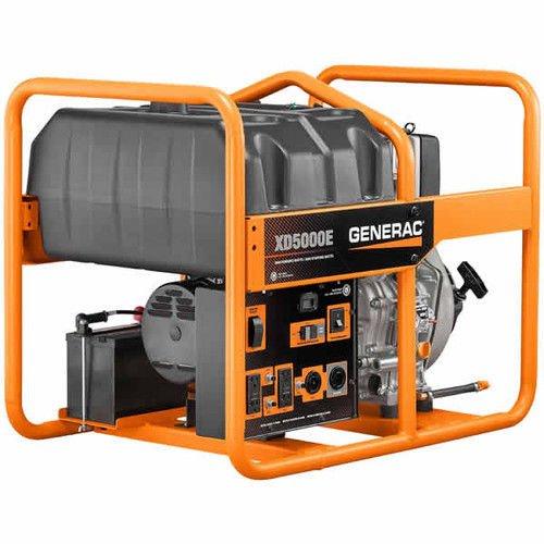 Generac 6864, 5000 Running Watts/5500 Starting Watts, Diesel Powered Portable Generator