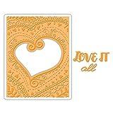Sizzix Impresslits Embossing Folder Bohemian Heart (6 Pack)