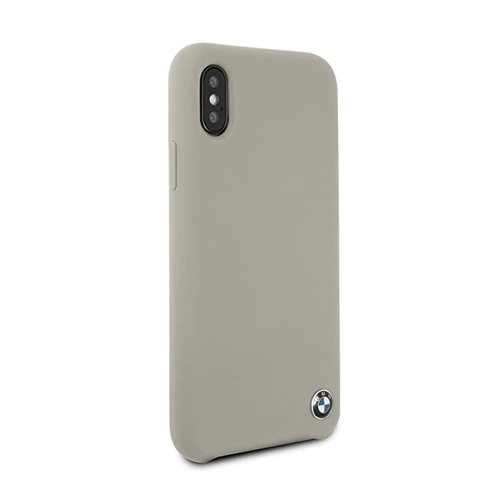 more photos 70bc8 acdf9 BMW iPhone X & iPhone Xs Case - by CG Mobile - Taupe Hard Cell Phone Case  Silicone| Easily Accessible Ports | Officially Licensed.