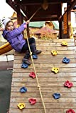 Rock Wall Climbing Holds With Hardware - 25 Climbing Wall Holds For Swingset Or Climbing Structures Outdoors or Indoors, Great For DIY Kids Playground Climber or Playset, ALL DIY Hardware Included