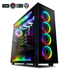 """Internal Design The AI Crystal has roomy design to be able fit in HPTX, 12""""x13"""" E-ATX/ EEB Form Factor 14 inch x 14 from Asus / SSI-EEB /ATX /Micro ATX M/B, with light smoky tempered glass side panel on both side and Front panel allow you to ..."""