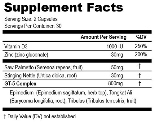 HexoFire Labs Delta Prime, Delta Prime Testosterone Production Support Capsules with Vitamin D Zinc & GT-5 Herbal Blend, 60 Capsules (30 Day Supply) by HexoFire Labs (Image #5)