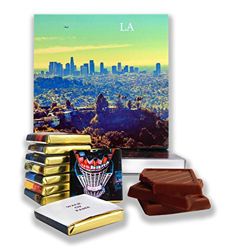 DA CHOCOLATE Candy Souvenir LOS ANGELES Chocolate Gift Set 5x5in 1 box (Azure)