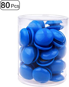 5 Star Office Round Plastic Covered Magnets 20mm White Pack 10